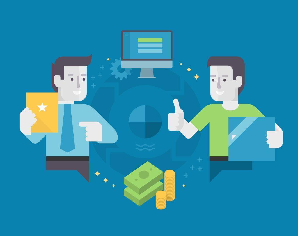 Talking businessmen-vector-CariMostert.com